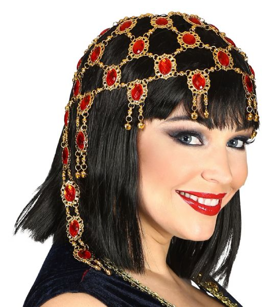 Adults Womens Deluxe Gemstones Headpiece Ancient History Fancy Dress Hat
